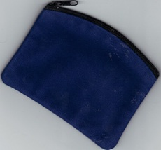 Rosary Case Velvet Blue - Zipper Top - $12.99