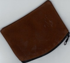 Rosary Case Velvet Brown - Zipper Top