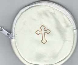 Rosary case white round mb6w thumb200
