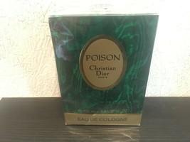 RARE VINTAGE CHRISTIAN DIOR POISON EAU DE COLOGNE 3.4oz/100ml SEALED PRE... - $147.51