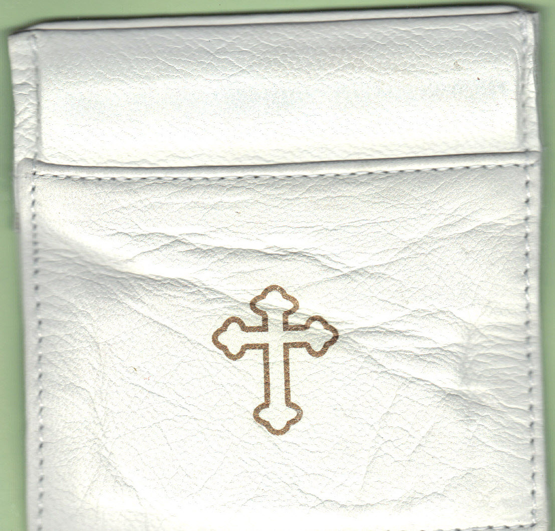 Primary image for Rosary Case White - Squeeze Top
