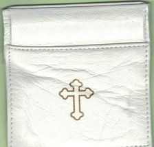 Rosary Case White - Squeeze Top - MB4/W