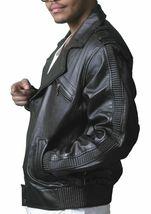 NEW Live Mechanics RFL Riders For Life Rockabilly Black Genuine Leather Jacket image 3