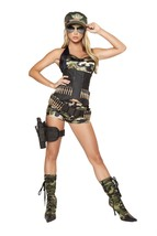 Sexy Roma Army Babe Halloween Complete Costume W/WO HOLSTER GLASSES S M ... - $99.00+