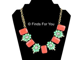 J Crew Factory Stone and Dotted Flower Necklace... - $39.78