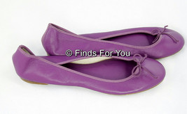 J Crew Classic Leather Ballet Flat Purple Size 8 $125 New Style# 36243 - $57.87