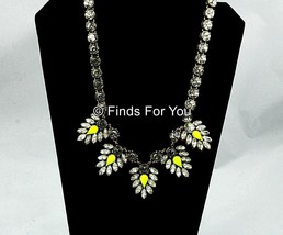 J Crew Crystal and Neon Chevron Necklace Style ... - $86.98