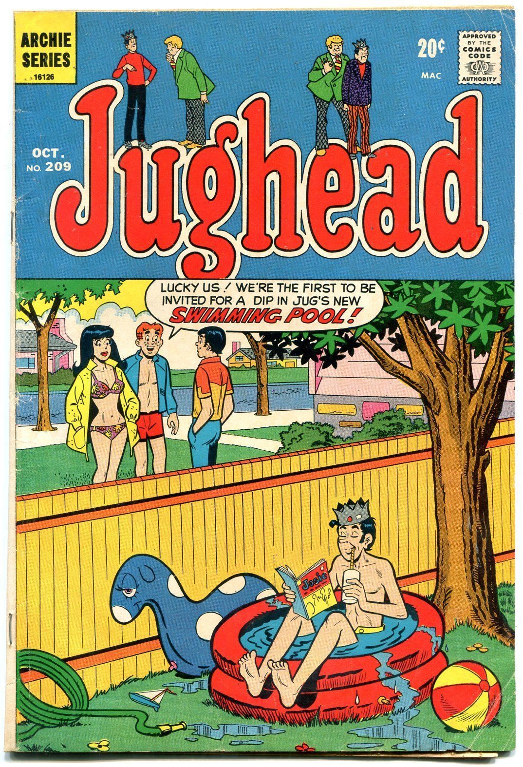 Primary image for Jughead Comics #209 1972- Archie- Betty & Veronica- Josie comic on cover VG