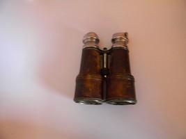 """WW1 Era Chevalier Paris Leather Wrapped 6.5"""" Day & Night Binoculars w/Case - $85.00"""