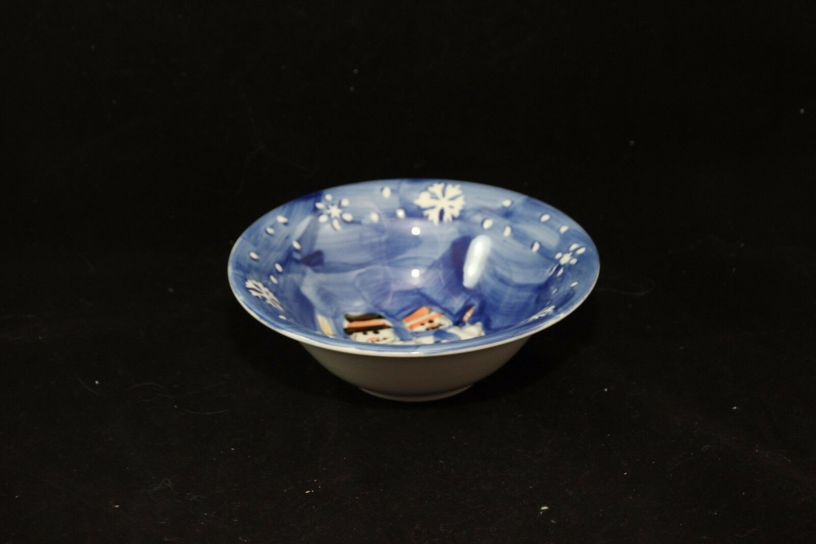 Tabletops Unlimited Snow Couple Soup Cereal Bowl Christmas image 2