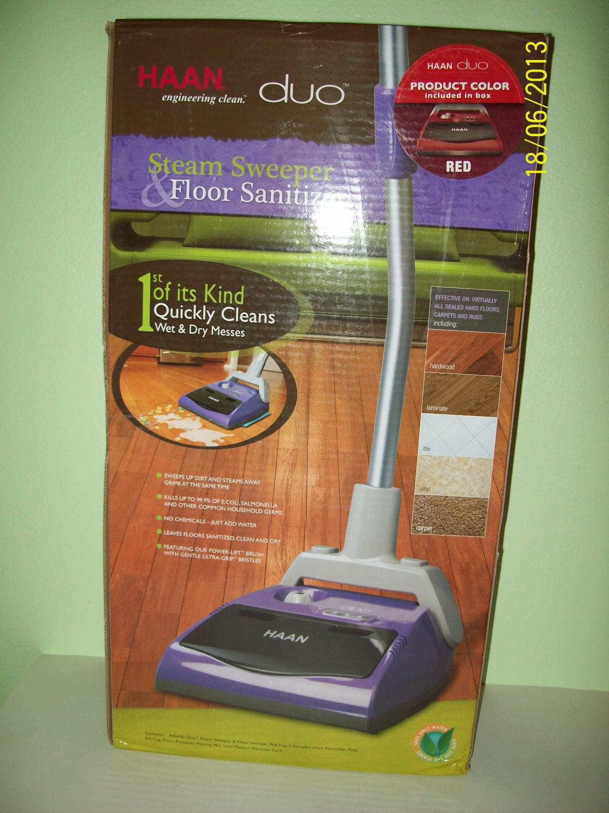 Hand Duo Steam Sweeper amp Floor Sanitizer Electric Broom
