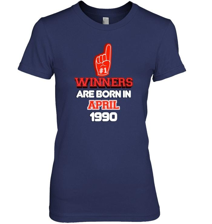 April 1990 28th Birthday Sports Fan Birthday Shirt image 2