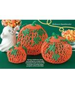W585 Crochet PATTERN ONLY Halloween Centerpiece Pumpkins Patterns - $7.45