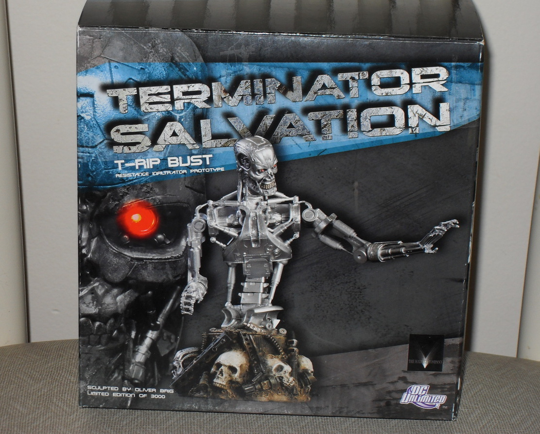 Terminator Salvation T-RIP Bust Limited Edition New In The Box