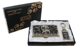 mother of pearl two tiger business card holder ... - $26.73