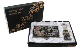 mother of pearl two dragon business card holder... - $26.73