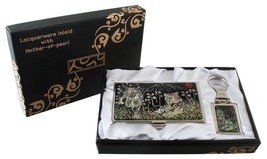 mother of pearl white tiger business card holde... - $26.73