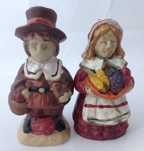 Pair of Pilgrim Salt Pepper Shakers Man Woman f... - $16.95