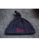 Personalized Baby Knotted Hat Cap Beanie Baby Boy Girl Infant Newborn - $19.99