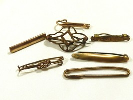 Antique Vintage Victorian lot of 7 Gold filled small pins for wear or repair - $29.70