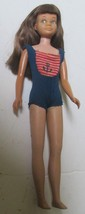 Vintage 1960s Mattel Barbie sister SKIPPER doll, bendable leg, brunette - $69.99
