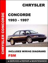Details About  Chrysler Condorde 1993   1997 Factory Service Repair Manual Acce - $14.95