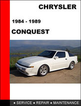 Details About   Chrysler Conquest 1984   1989 Factory Service Repair Manual Acce - $14.95