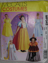 McCalls MP343 Cinderella Snow White Belle Rapunzel Witch Pattern Size 2 3 4 - $10.00