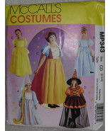 McCalls MP343 Cinderella Snow White Belle Rapunzel Witch Pattern Size 2 3 4 - $11.00