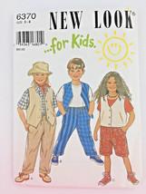 Kids Sewing Pattern Vest Pants Shorts Uncut Size 3 - 8 New Look Childs P... - $8.45