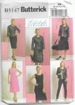 Butterick 5147 Wardrobe Pattern Dress, Jacket, Pants, Skirt Sz 8 10 12 14 Uncut - $10.77