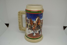 1998 Budweiser Holiday Stein Clydesdales CS343 Grant's Farm Holiday - $11.69