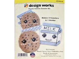 Design Works Plastic Canvas Kit Milk and Cookies #JAS-043-45