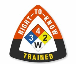 Right To Know Trained Hard Hat Decal Hard Hat Sticker Helmet Safety Label H189 - $1.79+