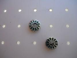 925 Ying Yang Stud Post Earrings w/Stone - $14.99