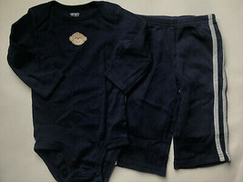 Boy's Size 9M 6-9 Months Two Pc Carter's Navy Monkey Embroidered L/S Top... - $15.00