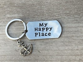 Infinity Collection Nautical Jewelry, My Happy Place Charm Keychain, - $9.99