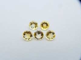 Natural Citrine Loose Gemstone 8 mm Round Cut Lot - 5 -Pieces - S1073 - $65.08