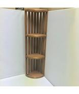 """Wooden Corner 3-Tier Display Shelf Rack Storage Organizer 24"""" Tall - $99.99"""