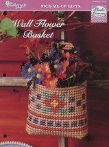 Wall Flower Basket TNS Plastic Canvas Pattern/Instructions Leaflet NEW - $1.32