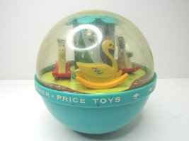 Vintage 1966 Fisher Price Roly Poly Chime Ball #165 Musical Toddler Children Toy - $21.75