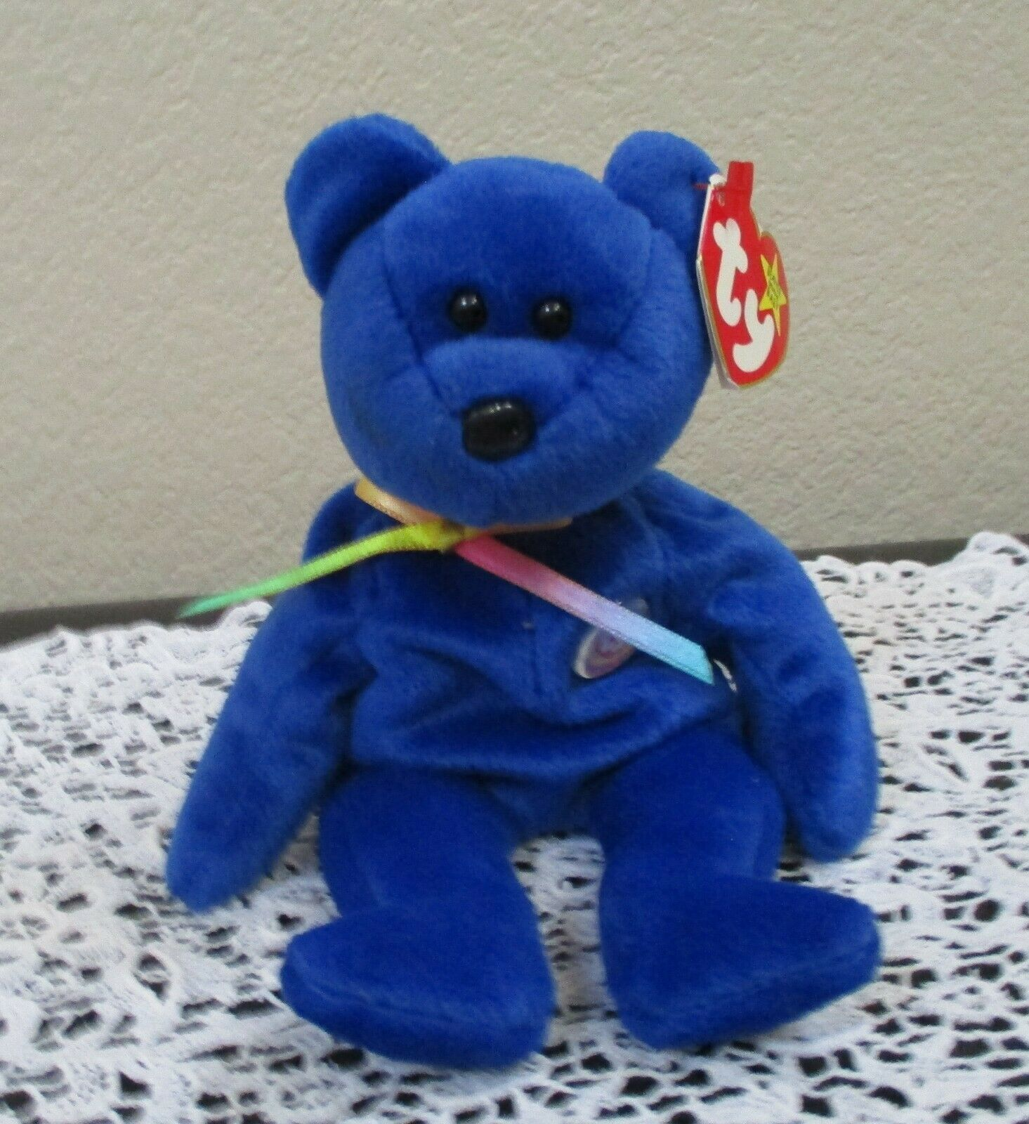 Primary image for Ty Beanie Baby Clubby Bear 1998 5th Generation Hang Tag NEW