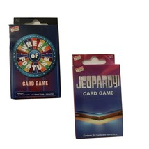 Jeopardy & Wheel of Fortune Card Games Set of 2- Loads of fun - $12.95
