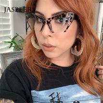 JASPEER Retro Cat Eye Glasses Frame Half Frames Female Brand Designer Eye Glasse