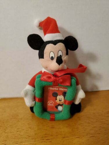 Primary image for VINTAGE APPLAUSE DISNEY MICKEY MOUSE PHOTO HOLDER ORNAMENT