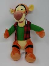 "Disney Store Holiday 2017 Tigger w Plaid Vest 18"" Plush Stuffed Toy   RARE - $37.39"