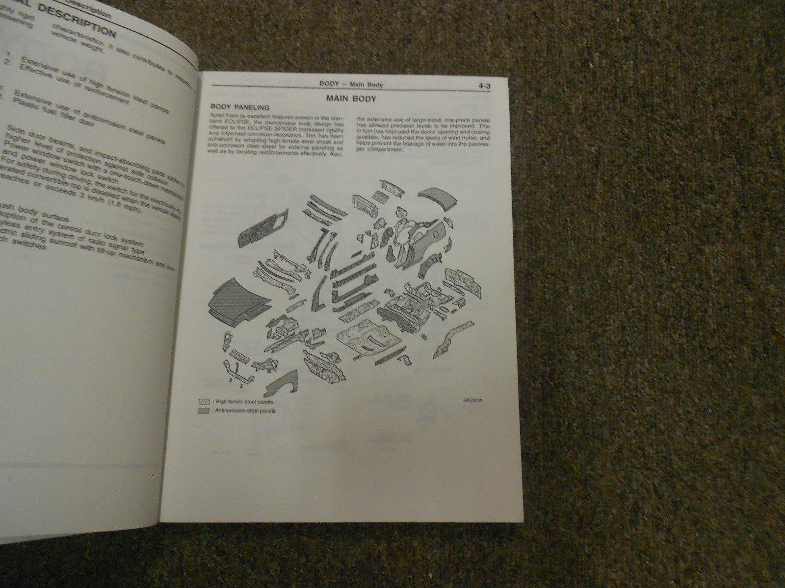 2001 MITSUBISHI Eclipse Spyder Technical Info & Body Repair Service Manual OEM
