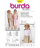 Burda Children's Sewing Pattern 9755 - Dress & Jacket Sizes: 6-11 - $12.74