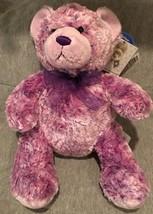 "BUILD A BEAR NIKKI'S II PURPLE TEDDY 15"" CANCER DIABETES PLUSH STUFFED D... - $19.79"