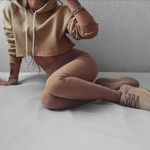 Sexy Women Fashion Crop Top Hoodies Sweater Long Sleeve Sweatshirt Casual Tops S